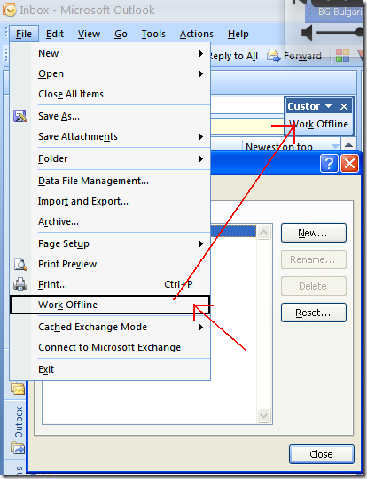 outlook 2007 add a button to a toolbar