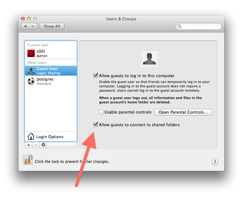 Anonymous SMB sharing from OS X Lion (10 7) – Mihail