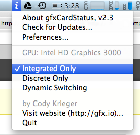 Force Integrated graphics on VMware Fusion (and probably other apps) on OS X 10.8 Mountain lion (avoid discrete graphics)
